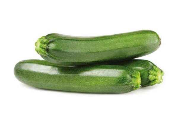 Dimensions and properties of zucchini
