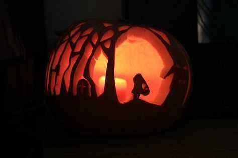 Features pumpkin Little Red Riding Hood