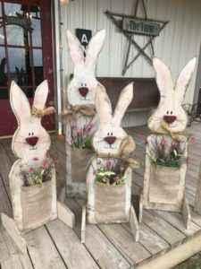Homemade decorative rabbits