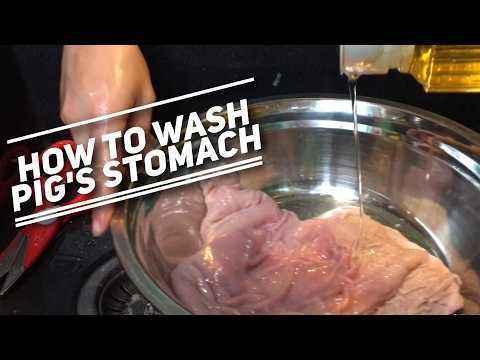 How to clean a fresh pork stomach