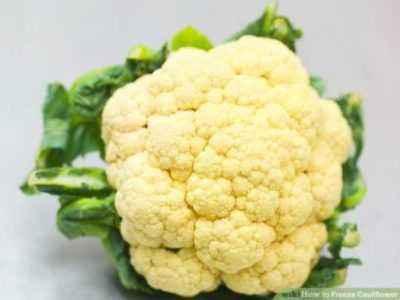 Proper freezing of cauliflower