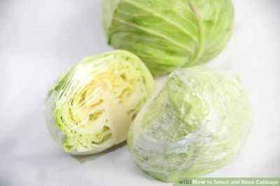 Storage of cabbage in cling film