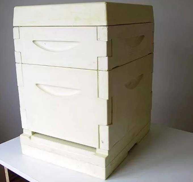 unpainted hive