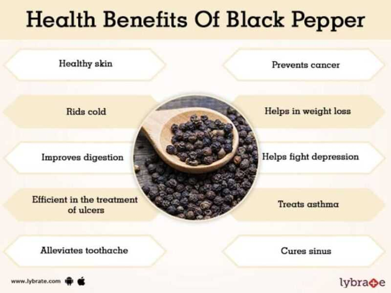 Black pepper, Calories, benefits and harms, Useful properties