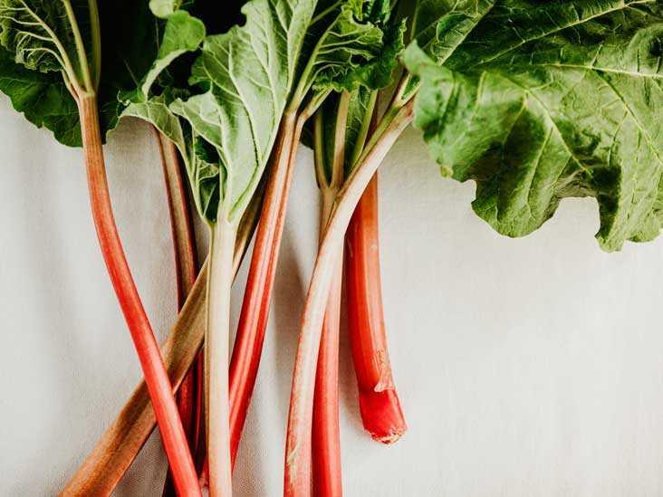 Rhubarb, Calories, benefits and harms, Useful properties