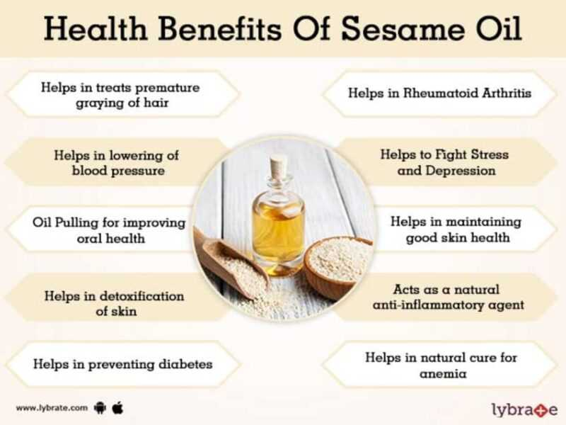 Sesame oil, Calories, benefits and harms, Useful properties