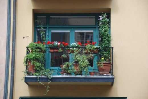 Jardins suspendus ou bureau vert sur le balcon. – sortie
